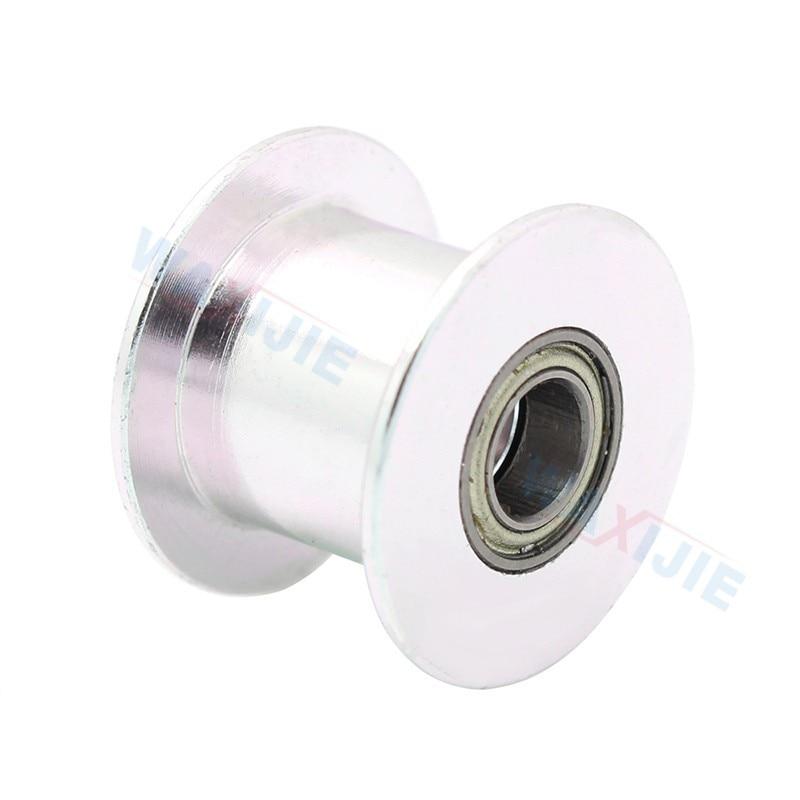 GT2 холостой алюминия Шестерни 20 прямозубая Шестерня синхронный колеса диаметр 5 мм Ширина 10 мм без зубов для 2GT ремень 3D-принтеры часть