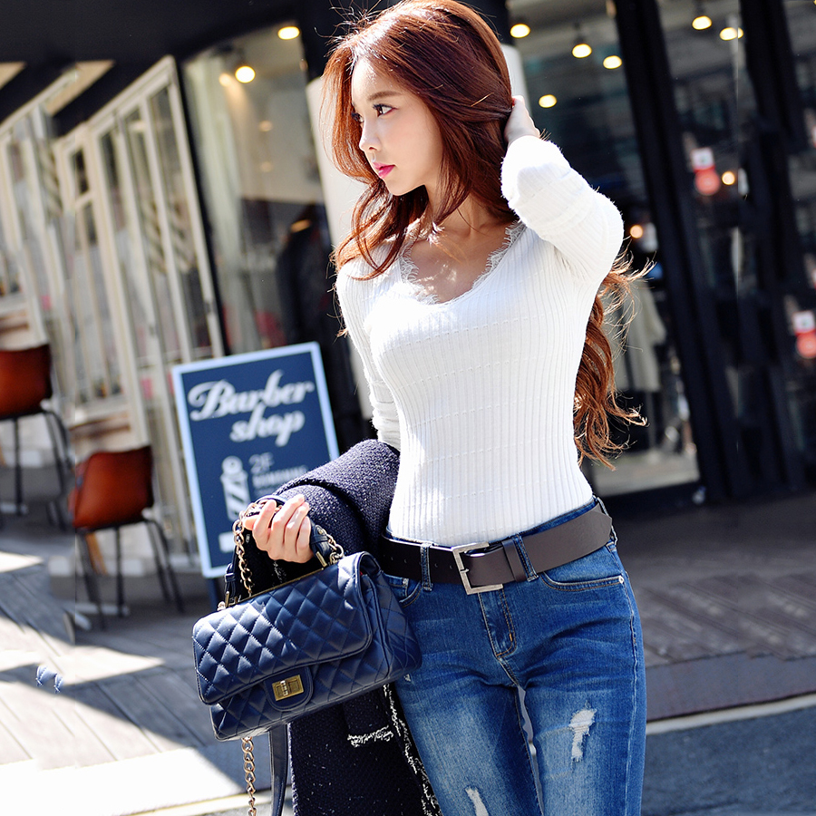 f8283288ff26 Detail Feedback Questions about original 2018 brand pull femme hiver casual  fashion white black gray autumn winter brief knitted sweater women  wholesale on ...
