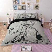 DX Luffy Ace Brotherhood Anime Cartoon Bedding set duvet cover One Piece comforter bedding sets bedclothes bed linen Comforters