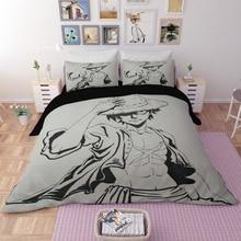DX Luffy Ace Brotherhood Anime Cartoon Bedding set duvet cover One Piece comforter bedding sets bedclothes bed linen Comforters стоимость
