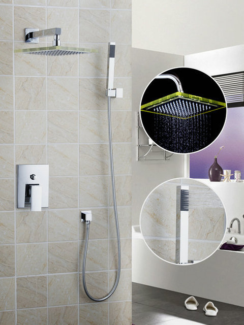 Aliexpresscom  Buy Wall LED Light Chrome  ABS Shower Head - Shower head that hooks to faucet