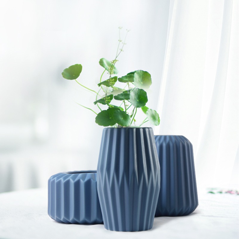 The Origami Vases Ceramic Tabletop Vase Home Decoration Vase Fashion Modern European Style In