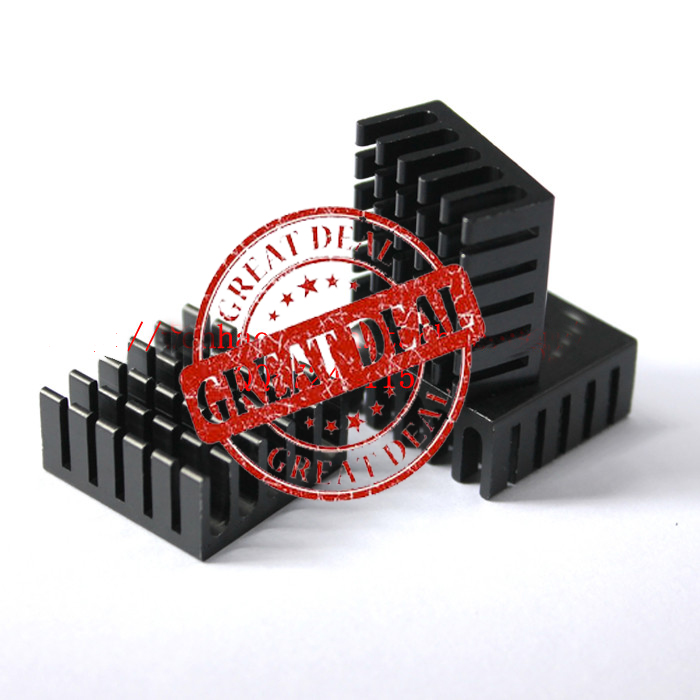 Free Ship 100PCS Custom High Quality Aluminum Heatsink 22*22*10MM  Black Chipset Heatsink Radiator