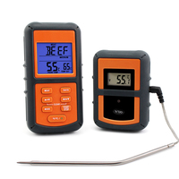 ThermoPro TP-07 300 feet Range Wireless Thermometer - Remote BBQ, Smoker, Grill, Oven, Meat Thermometer and Timer