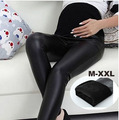 2016 winter fashion fall and winter pregnant women Leggings tight leather pants thin belly maternity pants