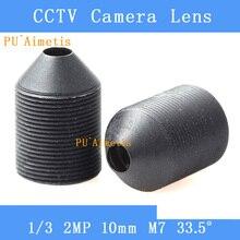 PUAimetis CCTV 렌즈 2MP 1/2. 7 1/3 1/4 HD 10mm 감시 카메라 33.5 도 적외선 M7 렌즈 스레드