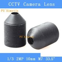 PUAimetis CCTV linsen 2MP 1/2. 7 1/3 1/4 HD 10mm überwachung kamera 33,5 grad infrarot M7 objektiv gewinde
