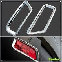 Для peugeot 3008 2009-2015 ABS Chrome заднего противотуманных фар Крышка лампы Стикеры рамка Auto аксессуары