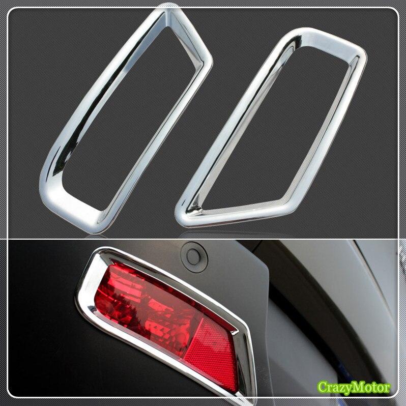 For Peugeot 3008 2009-2015 ABS chrome Car rear fog light lamp cover trim sticker frame Auto accessories car auto accessories rear trunk molding lid cover trim rear trunk trim for nissan sunny versa 2011 abs chrome 1pc per set