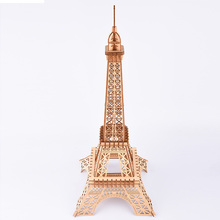 Woodcraft Assembly Model Building Kit Laser Cutting Puzzle 3D Wooden Jigsaw Model Eiffel Tower Travel Souvenirs Home Decorations snake 3d jigsaw woodcraft kit wooden puzzle