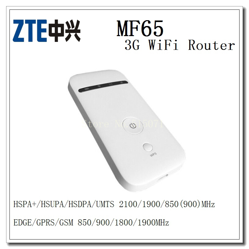 Unlocked ZTE MF65 POCKET WIFI ROUTER 3G Mobile Hotspot HSPA+ DL 21.6Mbps Wireless Router
