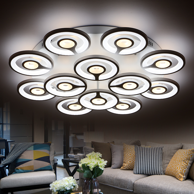 Ceiling Lights Modern Led Ceiling Lights Lampshade White Living Room Foyer Fixtures Bedroom Lamp Kitchen Plafonnier Luminarias Lighting