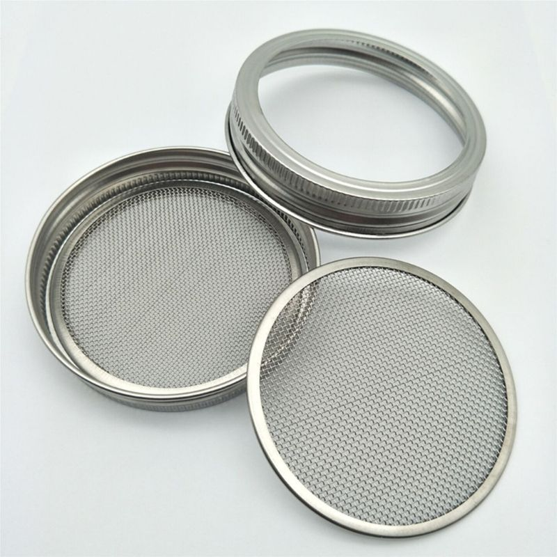 Seed Sprouter Germination Cover Kit Sprouting Mason Jars with Stainless Steel Strainer Lids Stainless Steel Germinator Set