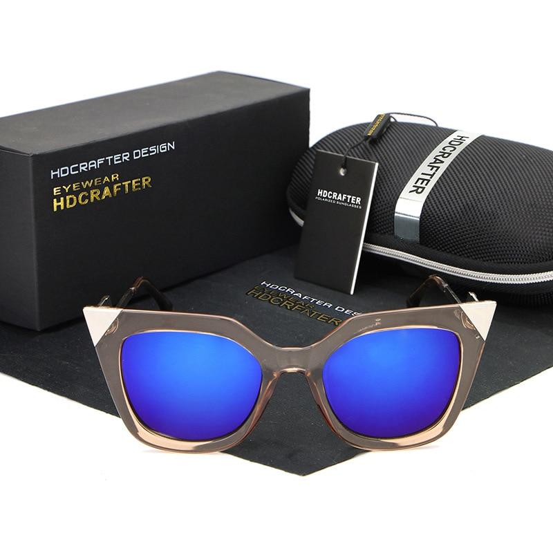 fce4d9ab156 Steampunk vintage retro Cat Eye Sunglasses for Women Brand Designer ...