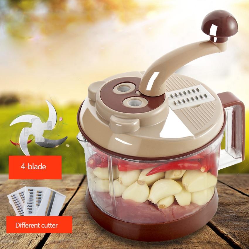 Manual Meat Grinder Chopper Meat Grinder Blender Mixer To Chop Meat Fruits Vegetables Nuts Herbs Food Cutter