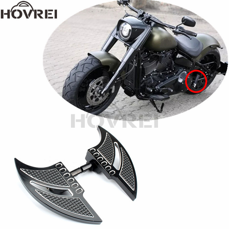Motorcycle Chrome Highway Foot Peg Rest Mount For Harley Touring Road King Glide