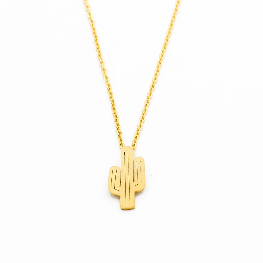 Hawaii Saguaro Cactus Necklace Pendant Women Bohemia Jewellery Summer Gifts Collier Femme Arizona Friendship Choker Necklace BFF