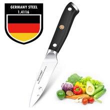 Faca 3.5 polegadas de cozinha japonesa, facas de frutas, aço inoxidável alemão 1.4116, profissional, de vegetais, faca de cozinha