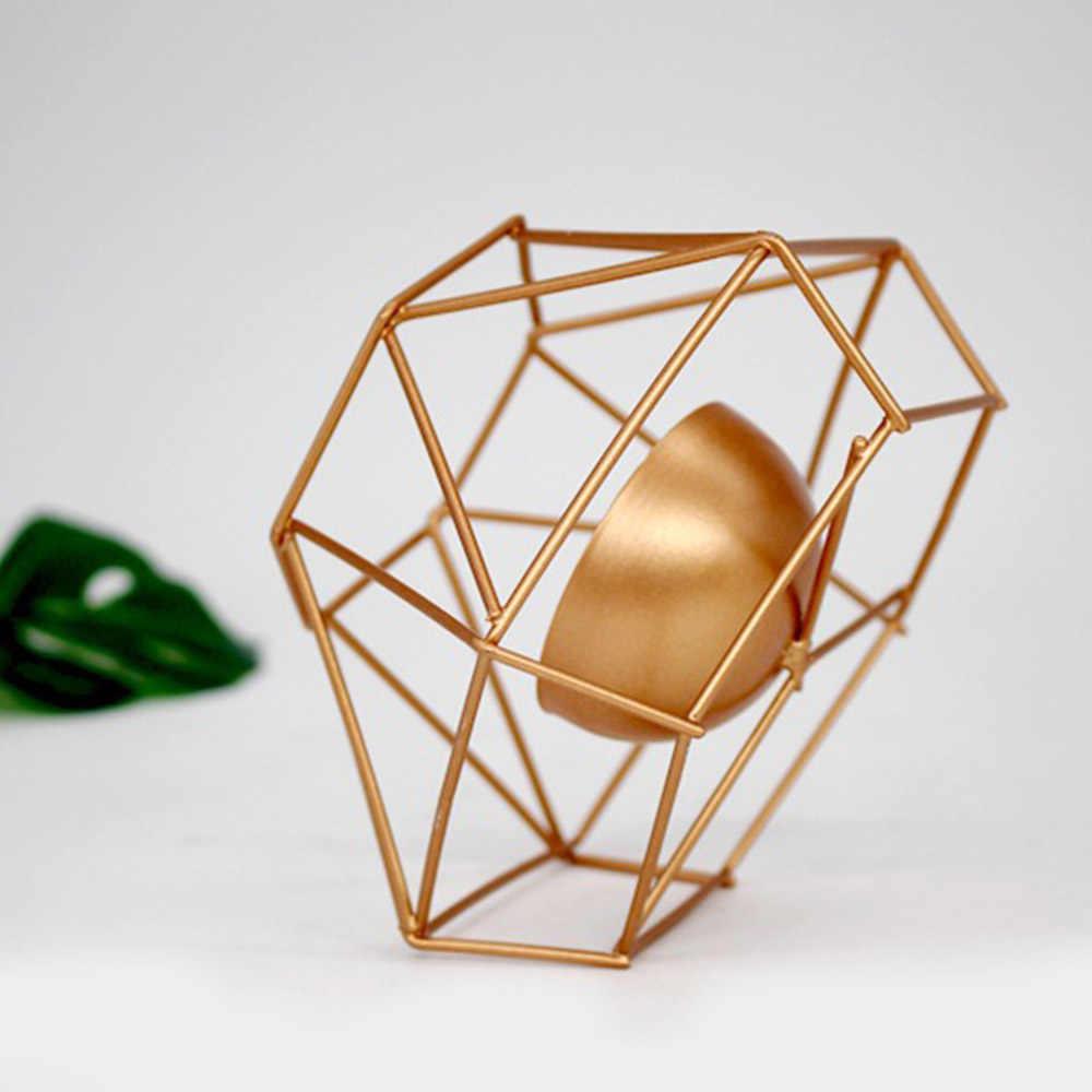 Свадебные украшения геометрический Железный Подсвечник настенные канделябры украшения бра соответствующие Tealight сталь минималистский