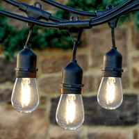Commercial Grade White Globe String Lights Bulb Outdoor High Quality Advanced Factory Wholesale