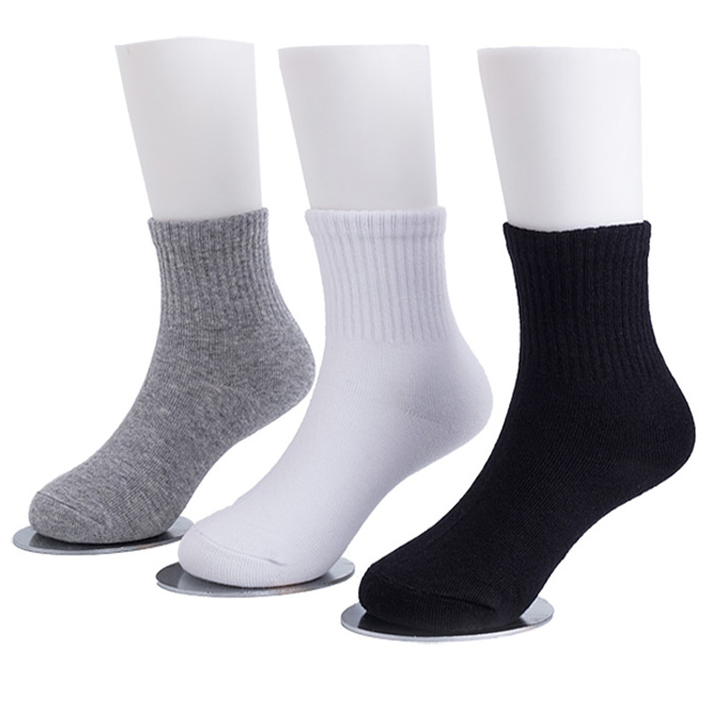 3 Pairs Kids Athletic Socks School Children White Sports Socks Cosy Casual Boys Girls Meias Breathable High Quality Short 3-15Y sock