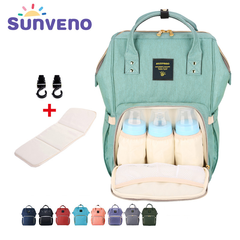 Sunveno Fashion Mummy Maternity Nappy Bag Brand Large Capacity Baby Bag Travel Backpack Designer Nursing Bag