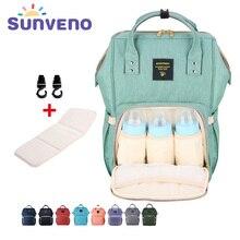 Sunveno Moda Múmia Saco De Fraldas Maternidade Saco de Marca Designer de Grande Capacidade Saco Mochila de Viagem Do Bebê de Enfermagem para Cuidados Com o Bebê