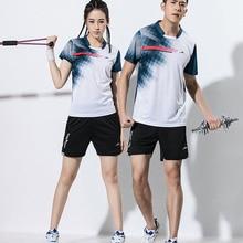 Мужские/женские теннисные рубашки, мужские костюмы для тенниса, одежда для настольного тенниса, футболки для бадминтона, шорты для пинг-понга