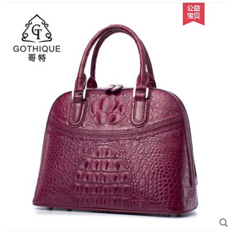 gete 2019 new Imported alligator skin handbag handbag leather fashion trend European and American style luxury lady bag big baggete 2019 new Imported alligator skin handbag handbag leather fashion trend European and American style luxury lady bag big bag