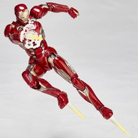 Marvel Iron Man 17cm Super Hero Avengers Ironman BJD Figure Model Toys With Retail Box