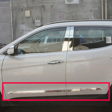 For Toyota Prado FJ150 2014 2015 2016 ABS Chrome Side Door Body Molding Moulding Trim new