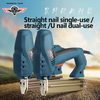 HEPHAESTUS Electric Nail Gun Single Use With Straight Nail Or Double Use Straight And U Shape