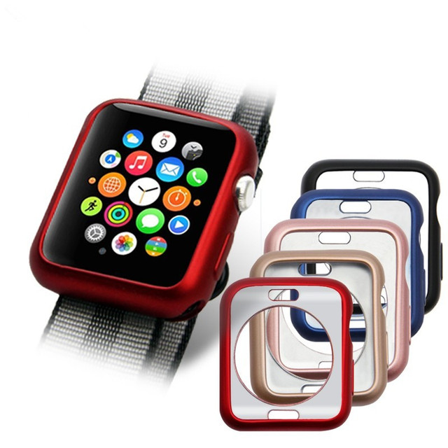 hot sales 7688b 4e15f US $2.38 12% OFF| Watch accessories for Apple Watch Case 38mm 42mm Series 3  2 1 Soft Slim TPU Ultra thin Perfect Match Protective Bumper -in ...