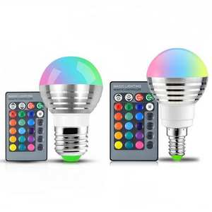 Lamp Led-Bulb Led-Night-Light Remote-Control Dimmable Holiday Magic 16-Color Stage-Light/24key