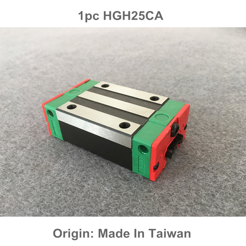 1pc HGH25CA 100% New Original HIWIN brand linear guide block for HIWIN linear rail hgr25 cnc parts original new hiwin linear guide block carriages hg25 hgw25cch hgw25cc hgr25 for cnc parts