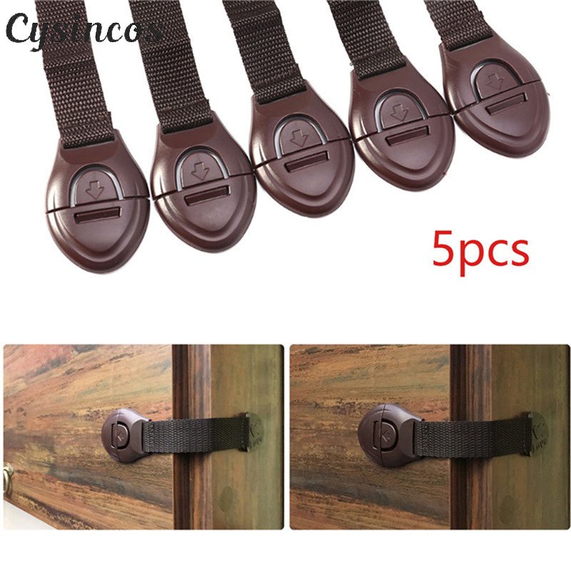 CYSINCOS 5pcs/lot Cabinet Door Drawers Refrigerator Toilet Baby Safety Locks Kids Baby Locks For Children Kids Baby Safety Locks