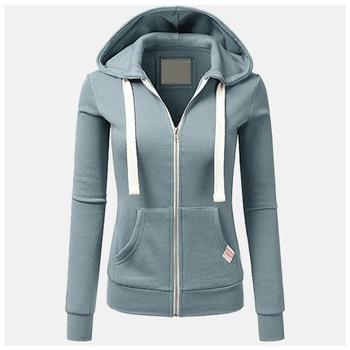 цена на Cute Pink Plain Black Hoodie Poleron Mujer Sweatshirt Winter 2019 Zip Up Hoodie Zipper Women Kangaroo Pocket Hoodie Drawstring