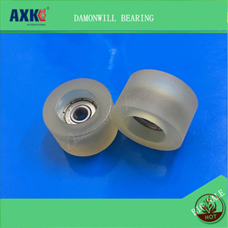 Hardware Forceful Rubber Wheel 6*30*18mm Pu 626zz Plastic Bearing Nylon Wheel Positioning Pulley Roller 6x30x18mm Wheels Roller For Furniture
