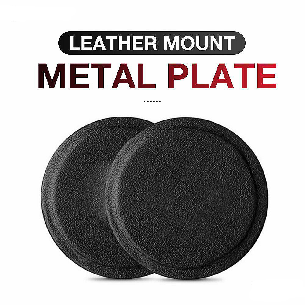 Original genuine leather metal plate round iron 3M adhesive dedicated to magnetic car phone seat accessories