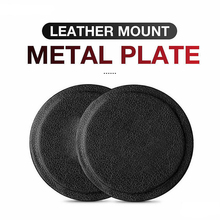 Original genuine leather metal plate round iron 3M adhesive dedicated to magnetic car