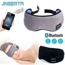 JINSERTA 2020 kablosuz Stereo Bluetooth kulaklık uyku göz maskesi yumuşak kulaklık telefon kafa uyku müzik mikrofonlu kulaklık