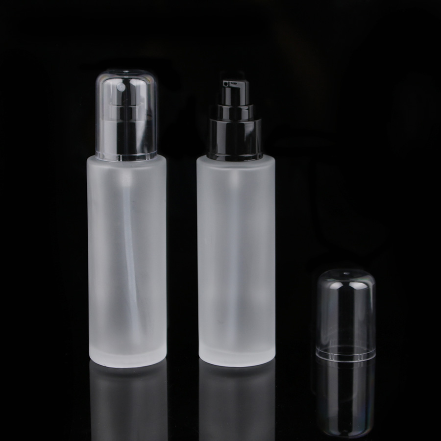 5pcs 100ml 3.3oz frosted round Glass Bottle for Essential Oil toner serum perfume with black Fine Mist dispenser Atomizer 1000mg 100 pcs fish oil bottle for health capsules omega 3 dha epa with free shipping