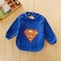 Baberos de bebé alimentación impermeable baberos paños del burp baberos de dibujos animados de algodón de manga larga superman hero princess baby girl boy baberos