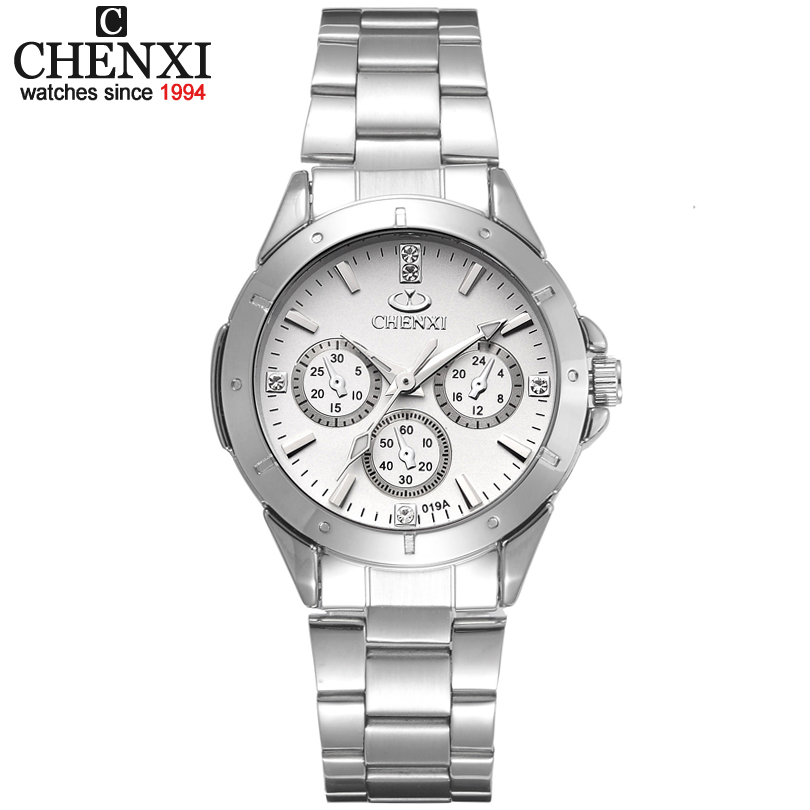 CHENXI Brand Top Luxury Ladies Gold Watch Women Golden Clock Female Women Dress Rhinestone Quartz Waterproof Watches Feminine 32