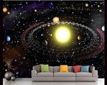 beibehang Modern Creative Aesthetics 3d Wallpaper Universe Starry Galaxy Ceiling TV Background Wall papel de parede wallpaper