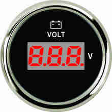 Digital-Voltmeter Boat Motorcycle Universal Waterproof with Red Backlight for Car Truck