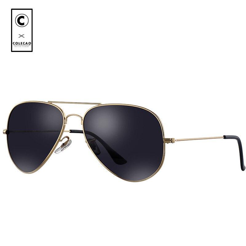 COLECAO Пилот поляризованных солнцезащитных очков Для мужчин 2018 очки солнцезащитные очки высокое качество UV400 солнцезащитные очки Прохладный ...