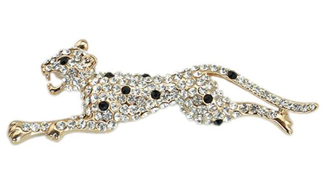 Personalizado Animais leopardo homens de terno acessórios broche pin atacado crachá//bijoux femme/2015 new arrival coreano fina jóias