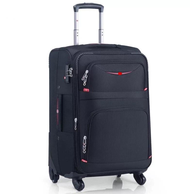 Nowych studentów wodoodporna Oxford toczenia torba na bagaż marki carry na vs wózek walizka kobiety i mężczyźni torby podróżne walizka na kółkach w Walizka na kółkach od Bagaże i torby na  Grupa 1