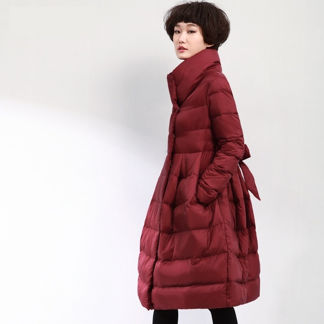 b9c42c858bf4 Płaszcz damski plus size kurtka zimowa spódnica długa pikowane płaszcze dla  kobiety w dół płaszcz parka
